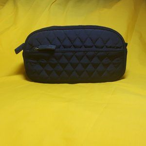 Vera Bradley Sm Cosmetic Bag Solid Navy Quilted